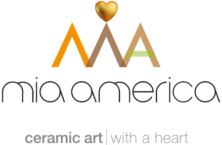 Mia America - ceramic art with a heart